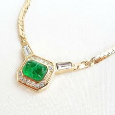 ©miri_mari - Vintage Christian Dior Emerald Gripoix Crystal Necklace ~ SOLD OUT