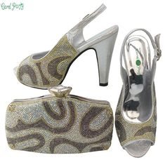 OLAMICH NEW Arrival Italian Design Shoes With Matching Bag Set WOMEN Wedding Fashion Pump