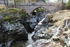 Derry Lodge and the Linn of Dee (Walkhighlands) Cairngorms, Great View, Scotland, Mountains, Waterfalls, Bridges, Places, Nature, Outdoor