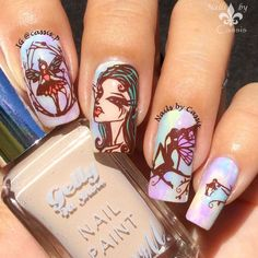 Enchanting Elves Mani Using Messy Mansion Plate - Nails by Cassis