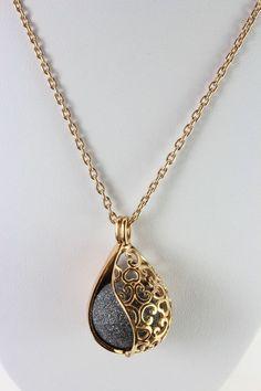 "Rose vergoldeter Anhänger ""Sternenglanz""mit  langer Kette Gold Necklace, Shop, Ebay, Jewelry, Fashion, Sparkle, Fashion Jewelry, Stars, Moda"