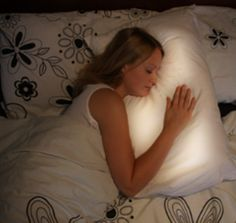 A pillow for long distant relationships- The pillow lights up when their sleeping on it to let you know their there. How cute