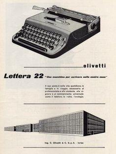 Lettera 22, Macchina da scrivere portatile, Marcello Nizzoli, Olivetti