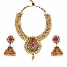 Aaishwarya Coloured Choker Party Necklace Set #necklaceset #chokernecklace #traditionalnecklace #ethnicjewelry #fashionjewelry