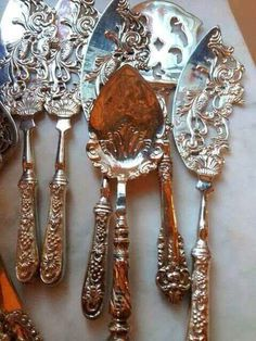 Sterling Silverware - The Enchanted Home - Traditional Style Vintage Silver, Antique Silver, Sterling Silverware, Enchanted Home, Silver Spoons, Silver Cutlery, Vintage Cutlery, Butler Pantry, Southern Charm
