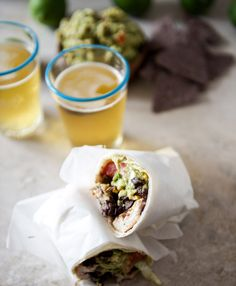 Tequila lime chicken and black bean burritos --- question is will the tequilla make it to the chicken???