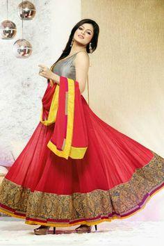 Drashti Dhami in beautiful Kalidar #Anarkali ~