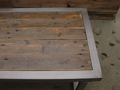 Repurposed pallet wood and steel Coffee table by gasweld45 on Etsy, $500.00