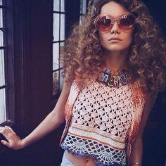 Immy Waterhouse wears Linda Farrow x Markus Lupfer glitter sunnies in DNA magazine