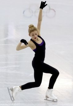 Gold of the U.S. skates during a figure skating training session in preparation for the 2014 Sochi Winter Olympics, in Sochi