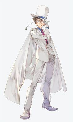 Manga, Kaito Kuroba, Detective Conan Wallpapers, Amuro Tooru, Kaito Kid, Detektif Conan, Kudo Shinichi, Magic Kaito, Cute Anime Pics