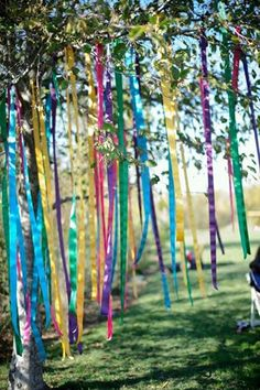 Photo: Write your intention on a ribbon and hang it from a tree. The wind will carry your desires through the universe. Tember
