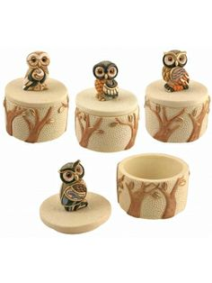 Another great find on Owl Trinket Jar Set by Streamline Quirky Gifts, Unique Gifts, Owl Home Decor, Beautiful Owl, Owl Crafts, Wise Owl, Owl Bird, Treasure Boxes, Owl House