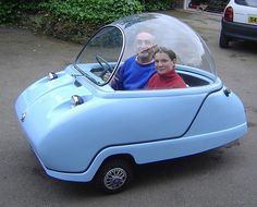 This site showcases a lot of different old little car designs... this one is my favorite. It reminds me of the Jetsons.