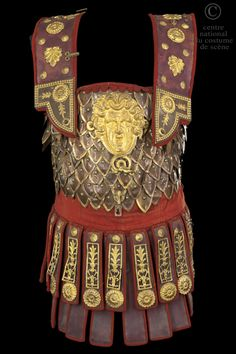 Costume leather and metal cuirasse
