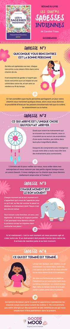 """Goodie mood - Summary of the book """"Les 4 Sagesses Indiennes"""" by Caroline Frisou – Goodie Mood - Love Quotes For Crush, Life Quotes Love, Zen Quotes, Self Love Quotes, Change Quotes, Mood Quotes, Happy Quotes, Vie Positive, Positive Mind"""