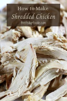 Create dishes galore with this easy How to Make Shredded Chicken recipe. Learn to make moist, tender, and flavorful chicken every single time with just 3 ingredients. #TheBestShreddedChicken #HomemadeChickenStockandShreddedChicken #HowtoMakeChickenStock #BoiledWholeChicken #HowtoBoilChicken #HowtoBoilWholeChicken Young Chicken Recipe, Best Chicken Recipes, Meat Recipes, Real Food Recipes, Cooking Recipes, Icing Recipes, Broccoli Recipes, Turkey Recipes, Fish Recipes