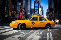 Impressionen aus New York - Taxi am Times Square