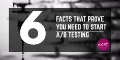 A/B testing is the easiest way to increase profit. Regardless of your online business, you have 3 main options to increase profits: Increase the traffic Increase the average order value Increase the conversion rate Read more about this via following infographic: 6 facts that prove you need to start A/B testing right now. Infographic courtesy …