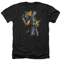 BATMAN/JOKER BANG-ADULT HEATHER-BLACK