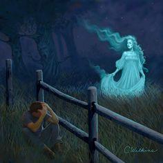 "La Llorona (Spanish for ""the one who weeps"") haunts creeks, rivers"