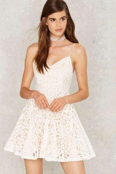 Crash the Party Lace Mini Dress - Dresses