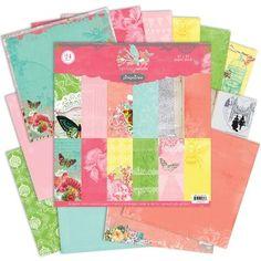 Pink Paislee Spring Jubilee 12x12 Paper Pack 24 Sheets Scrap Booking Card Making $19.99