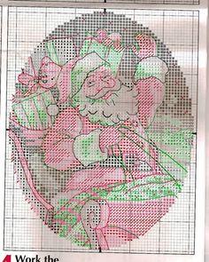 PUNTO EN CRUZ NAVIDAD PAPA NOEL SANTA (pág. 4)   Aprender manualidades es facilisimo.com