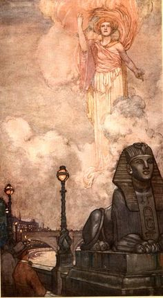 Came the whisper, came the Vision. 1909 W.Heath Robinson.