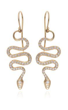 Black mamba earrings by ILEANA MAKRI Preorder Now on Moda Operandi