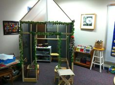 Would a small plastic greenhouse be any good as a base for a role play area?