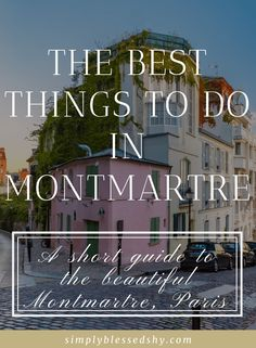Montmartre is such a charming neighbourhood in Paris that you have to visit. This short visual guide will take you through the different things to do and see in Montmartre so that you don't miss out! #montmartreguide #parisguide #paris #parismontmartre #whattodoinmontmartre #france #parisfrance Stuff To Do, Things To Do, Care Quotes, Live For Yourself, Paris France, Self Love, Life Is Good, The Neighbourhood, Inspirational Quotes