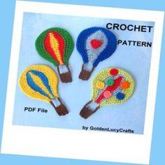 Hot Air Balloon Applique Crochet Pattern | Crochet Pattern | YouCanMakeThis.com