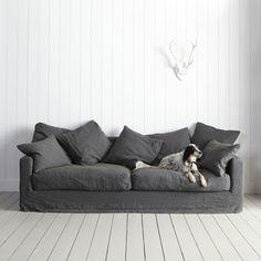 sofa #gray #linen pillows noraquinonez.etsy.com