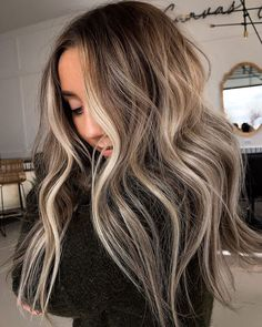 35 Top Balayage Long Hair Ideas for 2020 - New Hairstyles & Haircuts Ombré Hair, Dye My Hair, Hair Day, Brown Hair Balayage, Hair Highlights, Balyage Long Hair, Babylights Blonde, Bayalage, Hair Color And Cut