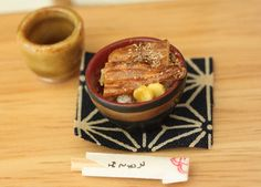 Miniature Grilled Eel 1/12 scaled