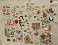 Pam Garrison's stitching sampler