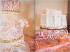 Wedding cake, Blush pink, burlap, gold and SPARKLES, Brandi & Tripp | Virginia Beach National Golf Club DIY Wedding Photography, McPherson Photography, www.McPhersonPhotos.com, Virginia Beach Wedding Photographer