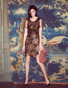 Sequin Shimmer Tunic Dress WH711 Special Occasion Dresses at Boden