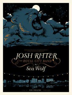 Josh Ritter - Sea Wolf #music #poster #illustration