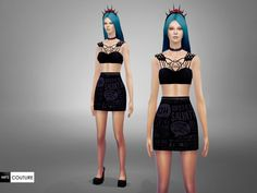 This is one of my creations that I converted to with some little changes. Hope you will enjoy it! Standalone item, available as outfit. Found in TSR Category 'Sims 4 Female Everyday' The Sims, Sims 4 Tsr, Sims 3, Sims 4 Clothing, Female Clothing, Sims 4 Game, Sims 4 Update, Two Piece Dress, Clothes For Women