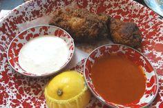 Fried Chicken with gochujang sauce and bleu cheese