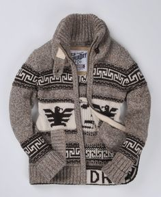 Shop Superdry Mens Big Zip Buffalo Knit in Big Blend Browns. Buy now with free delivery from the Official Superdry Store. Cowichan Sweater, Sweater Jacket, Men Sweater, Ralph Lauren Style, Sweater Making, Outdoor Outfit, Gentleman Style, Superdry, Mens Clothing Styles
