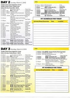 Vacation Itenerary Template  Trip Itinerary Template  My Kids