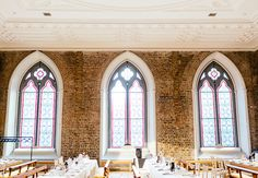 the venue is going to give us a lot of georgian elements for this shoot, and a lot of Irish characteristics.   ex -- imagine this shot with the tables all cleared away, just the bride/groom in the middle of the center window (hopefully slightly silhouetted by the natural light)?? that combination of neutrality and the pop of color coming from the windows will be lovely I think