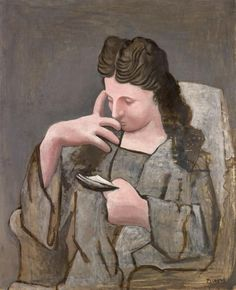Pablo Picasso (1881 - 1973) - Reading Woman (Femme lisant), 1920 Gift of the artist in 1921 Musée de Grenoble, France