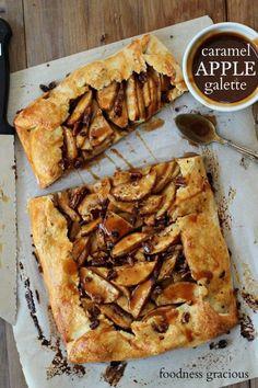 Caramel Apple Pecan Galette | Foodness Gracious