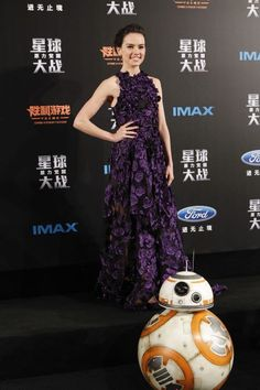 In Jason Wu during the Shanghai premiere of Star Wars: The Force Awakens.