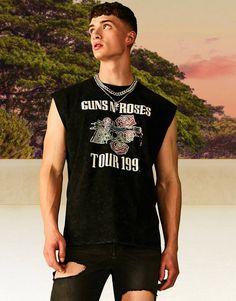 Guns N Roses, Safari, Asos, Latest Trends, Tank Man, Crew Neck, Mens Tops, Prints, Fit