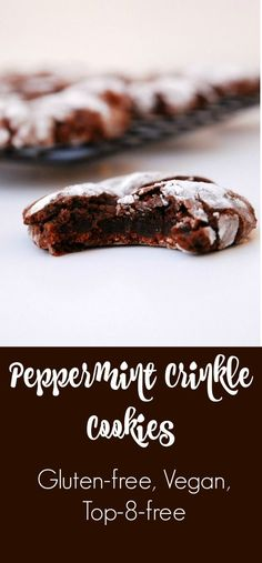 Peppermint Crinkle Cookies-perfect for the holidays
